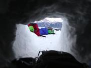 Ausblick Schneehöhle
