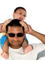 papa + baby black